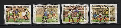 GABON 1989 World Cup qualifiers Italy 1990 Players ball goalkeeper SC# 672 675