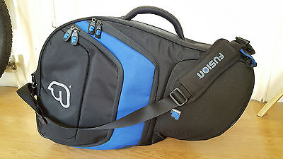 Fusion Premium French Horn Waldhorn Case Gigbag Black and Blue