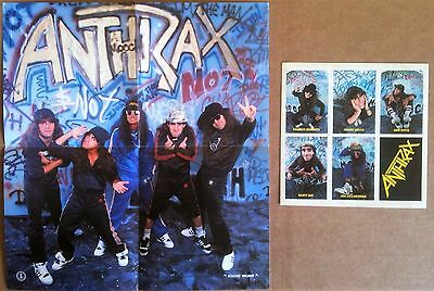 "Anthrax ‎– I'm The Man Island IS 338 UK 1987 7"" WITH POSTER & 6 STICKERS"