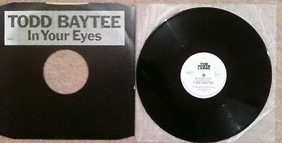 Todd Baytee  ‎–  In Your Eyes The White Label ‎WL1 UK 1986 VERY RARE FUNK/SOUL