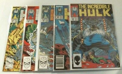 Lot of 5 Incredible Hulk  # 339,340,341,342,343