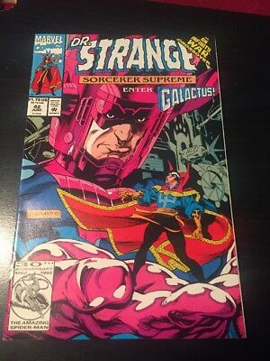 Dr.Strange#42 Incredible Condition 9.0(1992) Isherwood Art, Galactus App!!