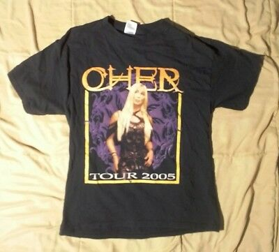 CHER Tour 2005 Concert T shirt - size Medium