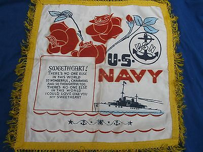 WWII US Navy Pillow Cover