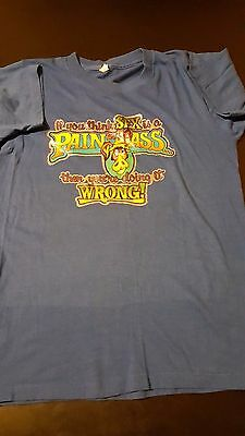 Vintage 1980 Sex Pain In Ass Doing It Wrong Iron-On T-Shirt Funny Donkey