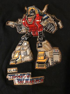 RARE VTG Original 80s 1985 Childrens Youth Transformers SLAG T-Shirt TV Movie