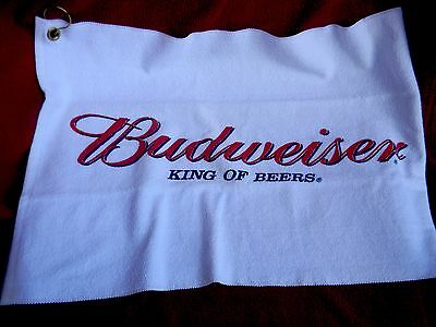 BUDWEISER ANHEUSER BUSCH KING of BEERS GOLF BAG BAR TOWEL BEER approx 24 x 15