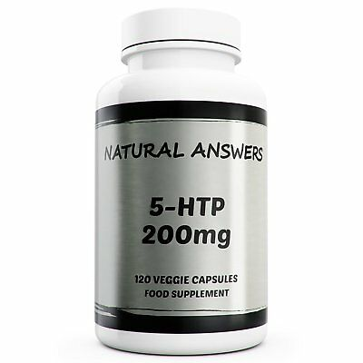 5-HTP 200mg Double Strength 120 Capsules Natural Relaxant Sleep Aid Non Anxious