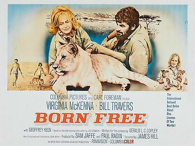 """Born Free 16"""" x 12"""" Reproduction Movie Poster Photograph 2"""