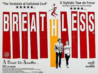 """Breathless 1960 16"""" x 12"""" Reproduction Movie Poster Photograph"""