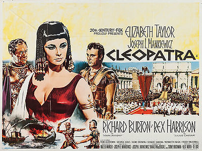 """Cleopatra 1963 16"""" x 12"""" Reproduction Movie Poster Photograph"""