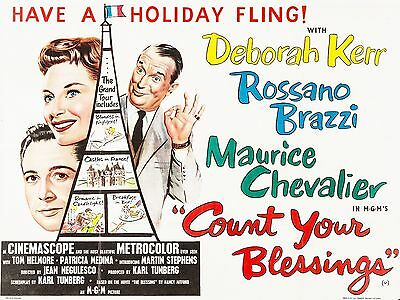 """Count your Blessings 16"""" x 12"""" Reproduction Movie Poster Photograph"""