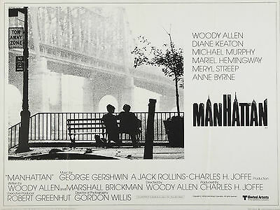"""Manhattan 1979 16"""" x 12"""" Reproduction Movie Poster Photograph"""