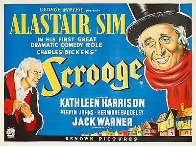 """Scrooge 16"""" x 12"""" Reproduction Movie Poster Photograph"""