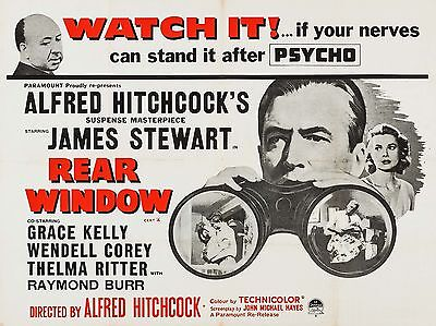 """Rear Window 16"""" x 12"""" Reproduction Movie Poster Photograph 2"""