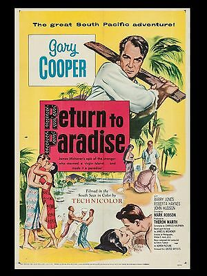 """Return to Paradise 16"""" x 12"""" Reproduction Movie Poster Photograph"""