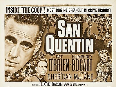 """San Quentin 16"""" x 12"""" Reproduction Movie Poster Photograph"""