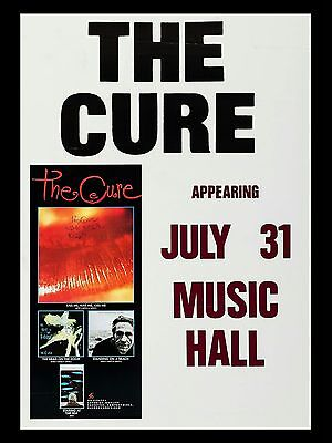 """The Cure Music Hall 16"""" x 12"""" Reproduction Concert Poster Photo"""