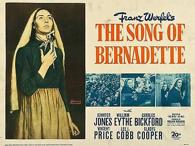 """Song of Bernadette 16"""" x 12"""" Reproduction Movie Poster Photograph"""