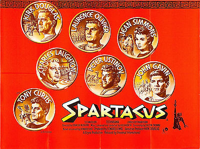 """Spartacus 1960 16"""" x 12"""" Reproduction Movie Poster Photograph"""