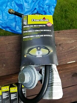 New Char-Broil Dual Hose /& Regulator Type-1 Connections FAST Free Shipping