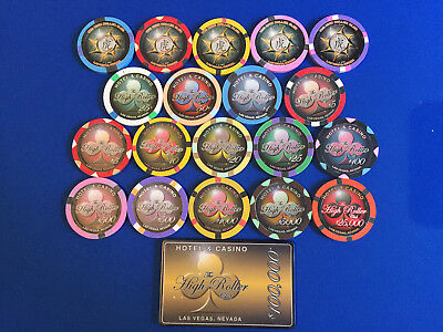 Full sample BCC HIGH ROLLER 19 chips + 1 plaque (5 very rare year of the tiger)
