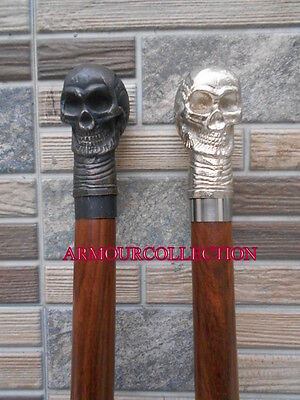 "Lot Of 2  Victorian 36"" Skull - Handle Folding Walking Stick/cane_Nauticals"