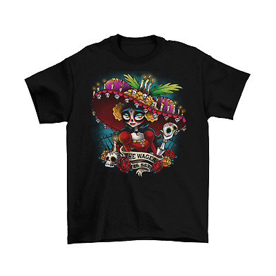 Dia de los Muertos T-Shirt Unisex Cotton Adult Halloween Day Of The Dead