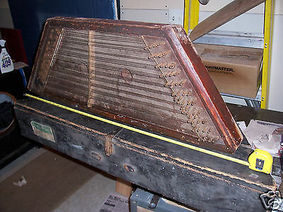Large Vintage Hammered Dulcimer Zither Harp Stringed instrument Autoharp used