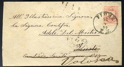 FIUME HUNGARY  1877. Nice forwarded classic cover