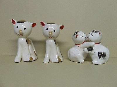 Vintage Kitty Cats + Huggers Salt & Pepper Shakers (Japan)
