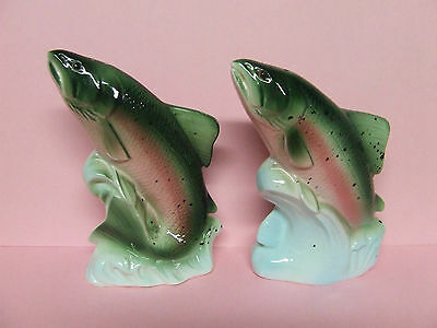 Vintage Large Rainbow Trout/Fish Salt & Pepper Shakers (Japan)