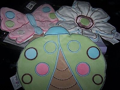 "NoJo Girl Nursery Wall hangings~""Ladybug Lullabye""~3 Pcs.~NWT~Washable"