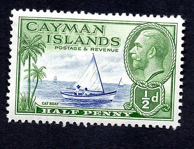 Cayman Islands 1936 King George V  Palm Boat MH #86 See Scan of Reverse