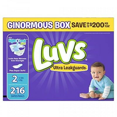 Luvs Ultra Leakguards Diapers Size 2, 216 Count