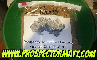 SAMPLE BAG! 10 oz RICH Virginia gold paydirt! (BY THE 10 oz SALE!) NOW RICHER!