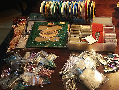 Assorted Ribbon Embroidery supplies