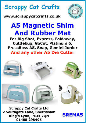 A5  Magnetic Shim & Rubber Mat for  Big Shot Express by Scrappy Cat : SREMA5