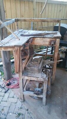 antique broom making machine great vintage home decor