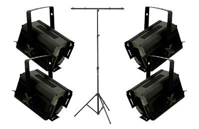 Theatre Lighting Set 4 Proiettori / Stand per Luci