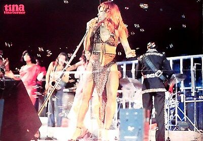 TINA TURNER POSTER ( Anna Mae Bullock ) OLD POSTER - OVER 30 YEARS *VERY RARE*