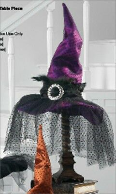 """RAZ Imports 15/"""" Witch Ornament-Posable Legs-Hang Or Sit-Halloween Collectible"""