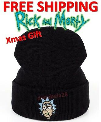 Rick and Morty HAT Winter Ski Cap Adjustable Adult Warm Hat Rick And Morty Beani
