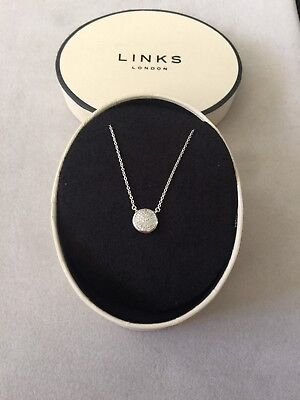 Links of London .925 Sterling Pave Diamond Essential Pendant Necklace Rt. $275.