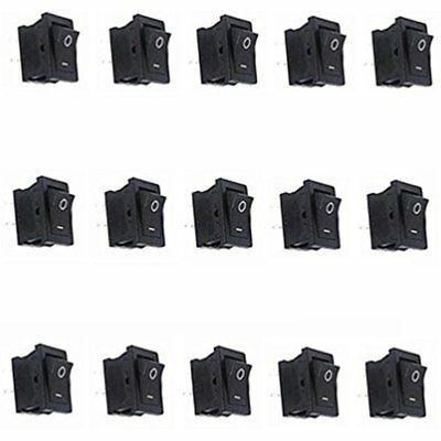 FBApayipa Toggle Switches 15 Pcs AC 6A/250V 10A/125V Solder Lug SPST On/Off Mini