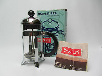 BODUM caffettiera FRENCH PRESS pressofiltro coffee maker bakelite / inox vintage