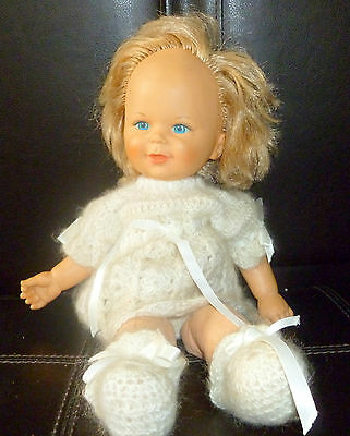 "Vintage Mattel 1980 Rag Doll 15"" Tall Rubber Face And Arms"