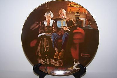 "8 1/2"" Norman Rockwell ""Evening""s Ease'"" Plate By Knowles #18875 H"