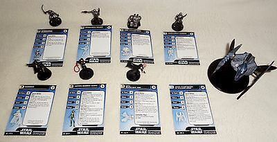 Star Wars Miniature BOUNTY HUNTERS LOT 8 Vulture Droid Starfighter/Garindan WOTC