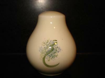 Poole Pottery Grapevine Spongeware Salt Pot
